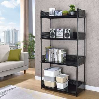 4 layers Metal Shelving with Ledges